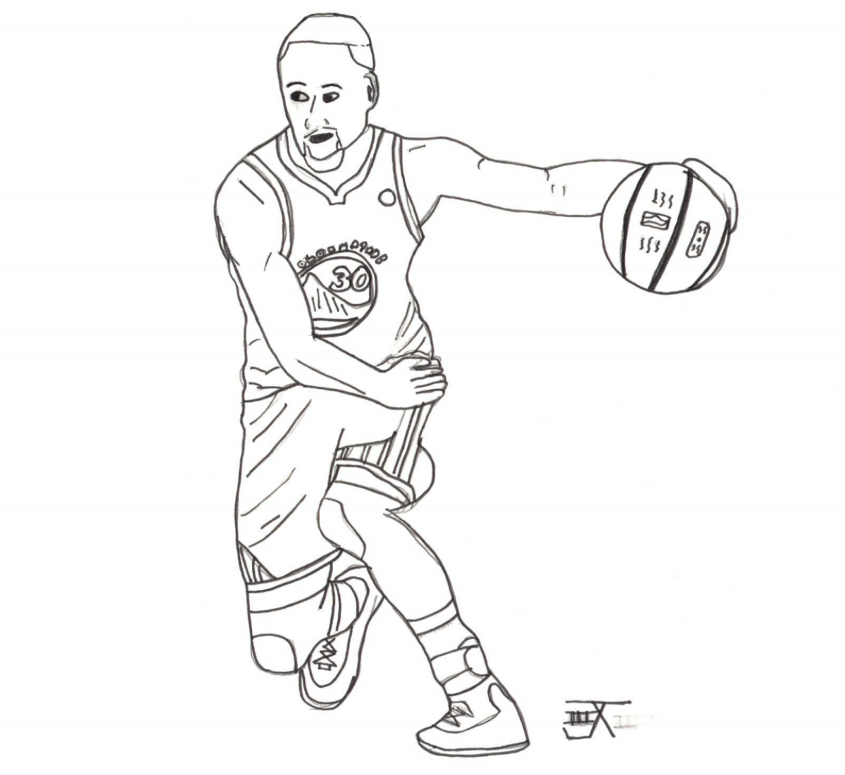 Stephen Curry Coloring Sheet Sports Gear Of The Year